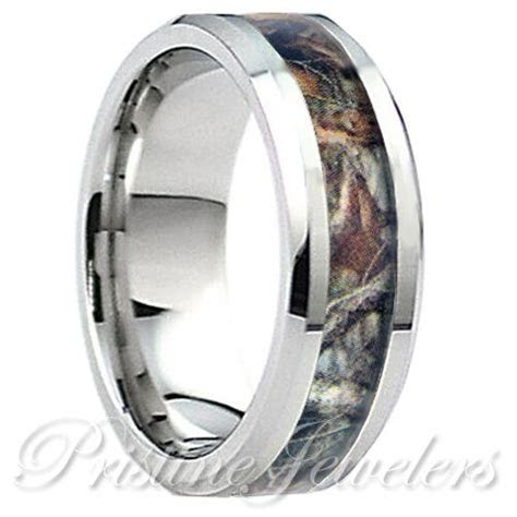 Titanium Brown Oak Real Forest Camo Ring Men Women Mossy
