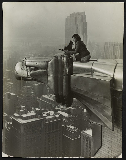 Vintage Deluxe — locpix:   [Margaret Bourke-White atop the Chrysler...