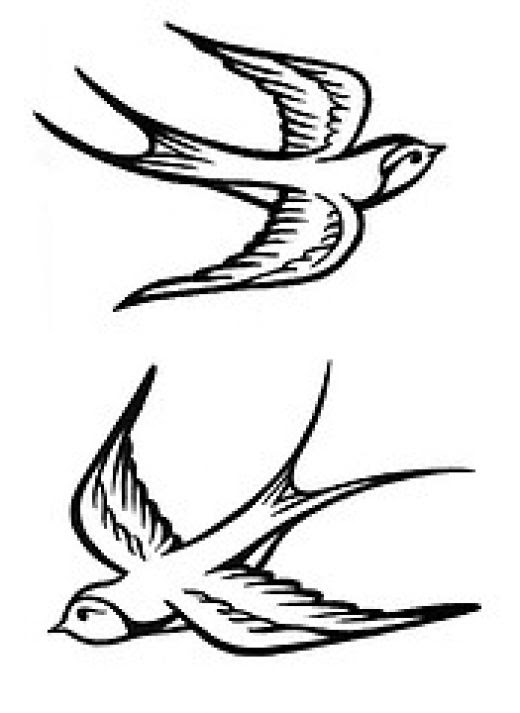 Feather Bird Silhouette Tattoo At Getdrawingscom Free For