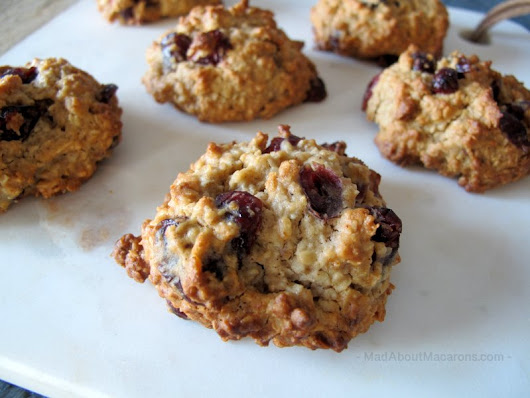 Breakfast Oat Cookies with Hazelnut & Cranberry - Mad about Macarons
