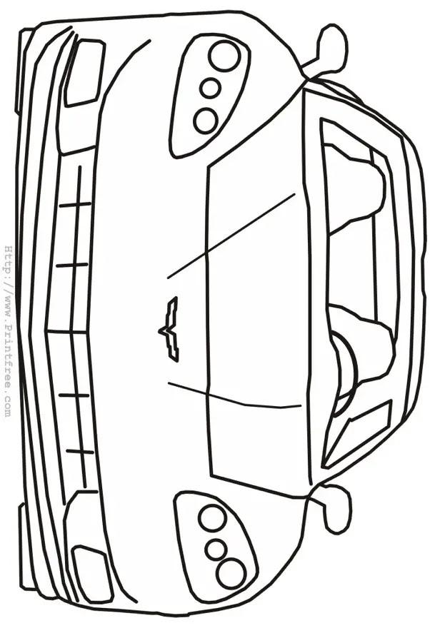 Modern Corvette front outline image