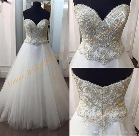 Sweetheart Neckline Ball Gown Wedding Dresses With Bling