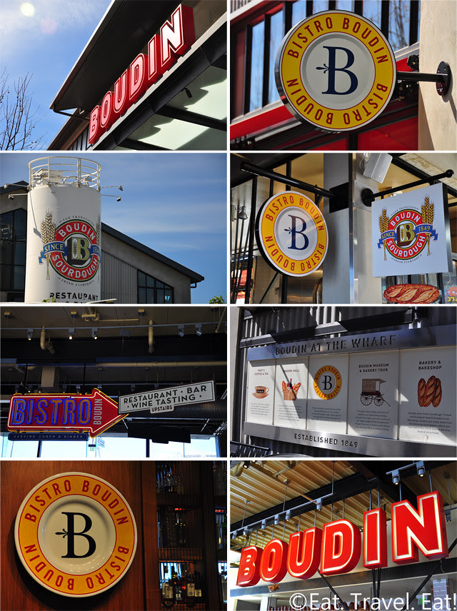 Boudin: Boudin Logos- Fisherman's Wharf, San Francisco, CA