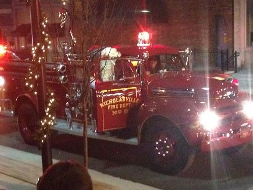 Santa Claus in Nicholasville, Ky.