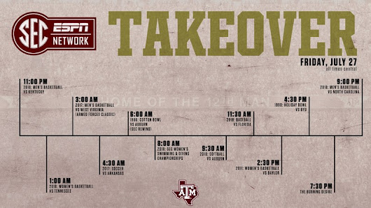 Texas A&M Takes Center Stage for SEC Network Takeover on July 27 - Texas A&M University Athletics Department
