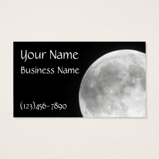 Full Moon Business Cards