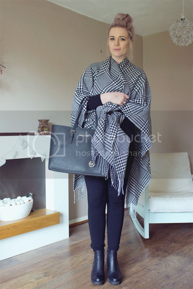 houndstooth cape dogtooth