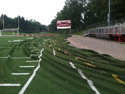 You won't believe what one hour of rain did to a Pittsburgh turf field