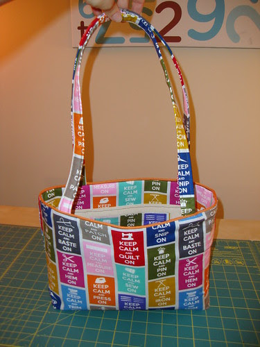 Simplicity 8331: Keep Calm bag: done!