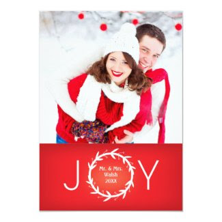 Wreath Joy Holiday Photo Card