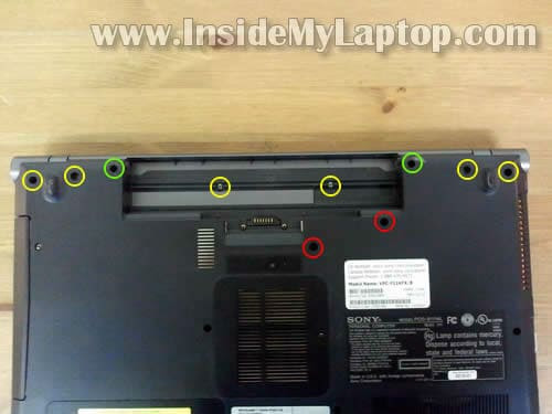 Laptop Repair  Taking Apart Sony Vaio Vpcf1 Laptop