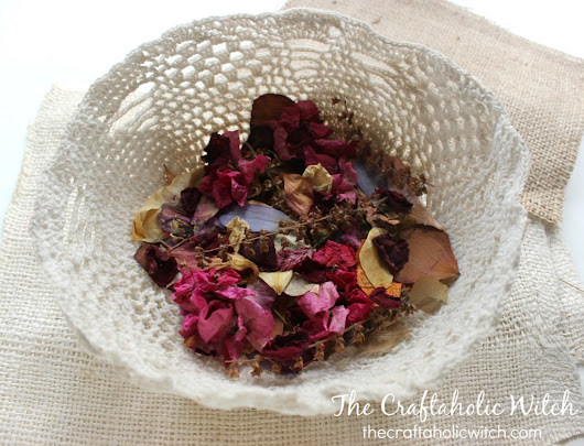 Craft Supplies from My Garden #Flowers | The Craftaholic Witch