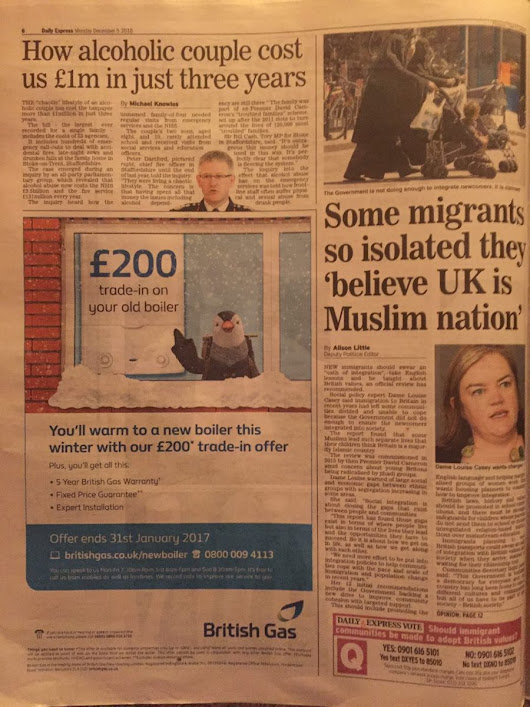 "Stop Funding Hate on Twitter: ""Hi @BritishGas - have you considered what message is being sent by your association with the Express? Pls #StopFundingHate #GoodwillToAll """