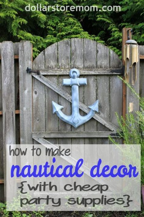 Make Cheap Nautical Garden Decor » Dollar Store Crafts
