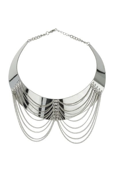Topshop Draped Chain Collar Necklace