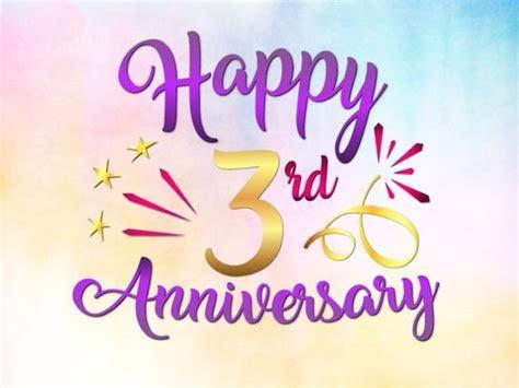 Happy 3rd Anniversary SVG Three Years Wording Gift