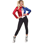Rubies Costume Company Harley Quinn Adult Costume Kit, Red/White/Blue