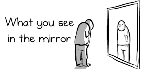 What you see in the mirror - The Oatmeal