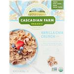 Cascadian Farm Organic Cereal - Vanilla Chia Crunch - Case Of 10 - 12.5 Oz