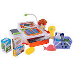 Hey Play 80-PP-FA13483 Pretend Electronic Cash Register with Real Sounds & Functions