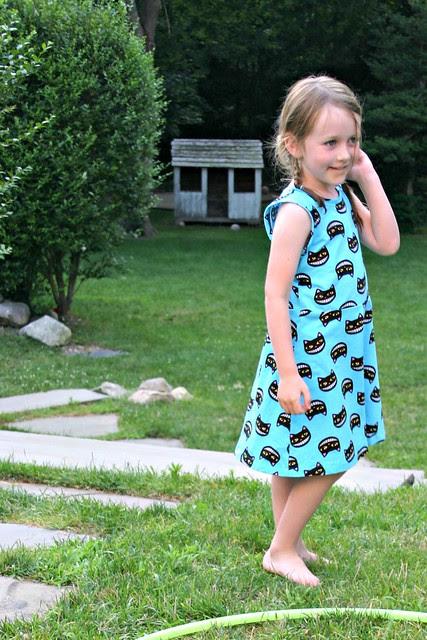 cool cat sleeveless skater dress