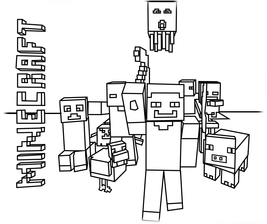 Adoravel Desenhos Do Minecraft Colorido Para Imprimir Melhores