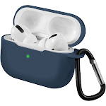 For AirPods Pro Case Silicone Protective Shockproof Cover Skin with Portable Keychain Compatible with Apple Airpod Pro 3 2019 Wireless Charging