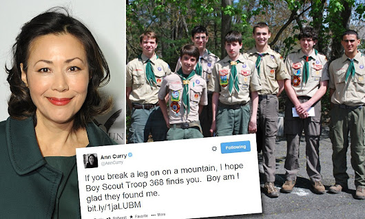 Group of Boy Scouts save Ann Curry from being stranded on hiking trail