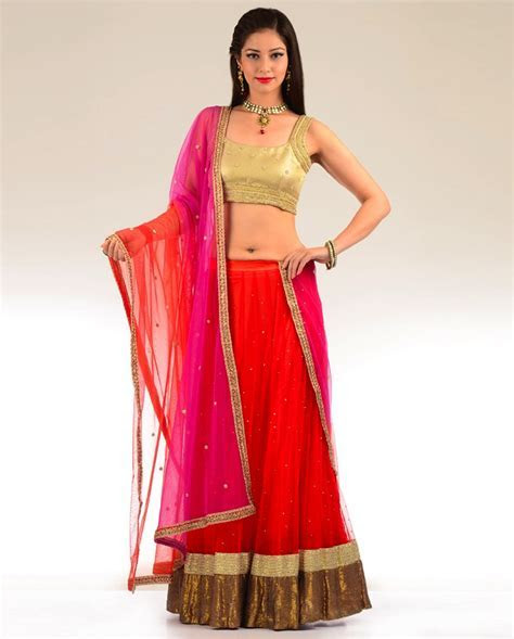 simple red lehenga   SareeBride