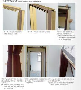 Wood Plastic Composite Wpc Door Jamb Waterproof Bathroom Door