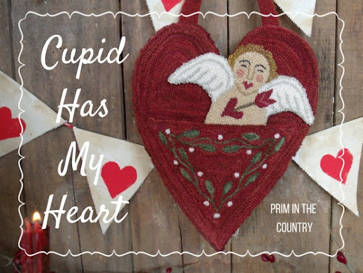 Cupid Has My Heart Punch Needle Pattern by PrimInTheCountry