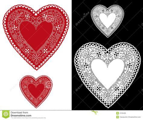 Heart Lace Doilies Royalty Free Stock Photo   Image: 4135405