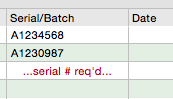 Serial number tracking