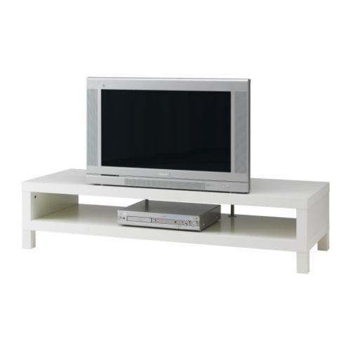 """LACK Móvel TV, branco Largura: 149 cm Profundidade: 55 cm Altura: 35 cm Peso máximo: 65 kg Tamanho máx de ecrã p/TVs planas: 50 """""""