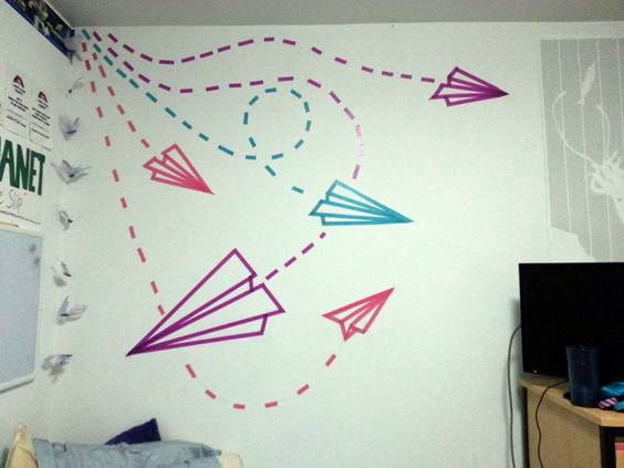 3 washi tape wall art