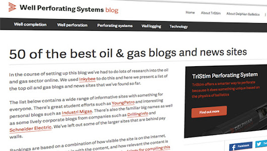 50 great oil and gas blogs – an Inkybee case study
