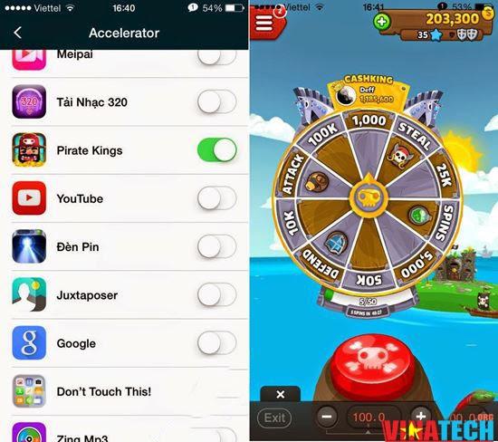 Cách hack game Pirate Kings trên iPhone, iPad đã jailbreak