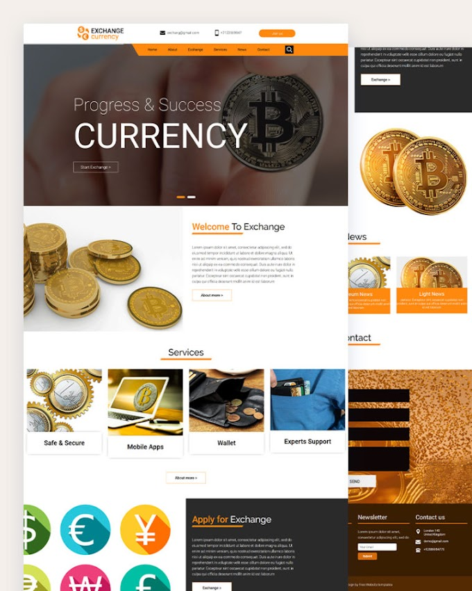 Currency Exchange Free Website Template