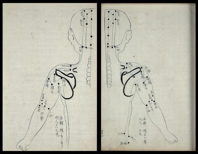 lateral acupuncture points - rare book from Japan