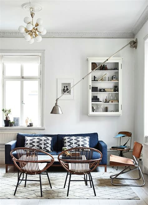salones de diseno estilo nordico  chic en  fotos bellas