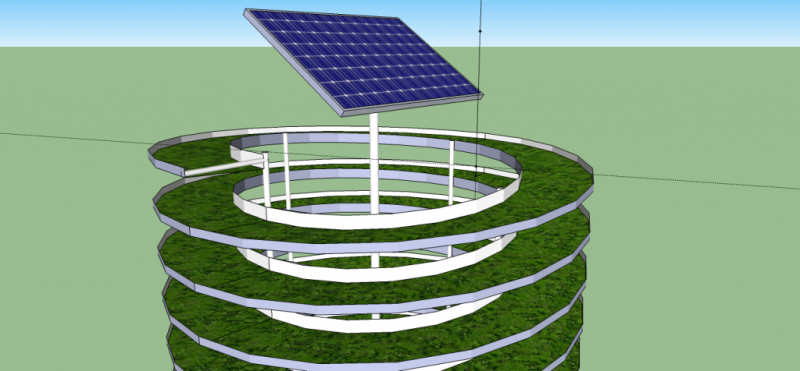 Vertical Aquaponics System