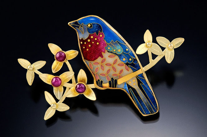 Unique Boutique: Michael Romanik, cloisonne enamel jewelry designer