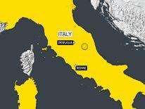 The quake was felt as far away as Rome