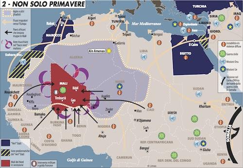 Carta di Laura Canali tratta da Limes 1/13 L'Egitto e i suoi fratelli