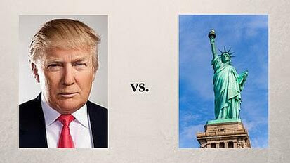 The Face of New York: Donald Trump or Emma Lazarus?