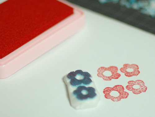 How to make a flower stamp 9