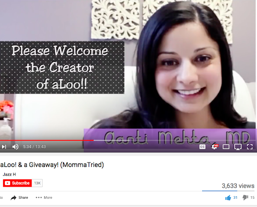 aLoo Media Attention! Check Out a Review and Interview by MommaTried!