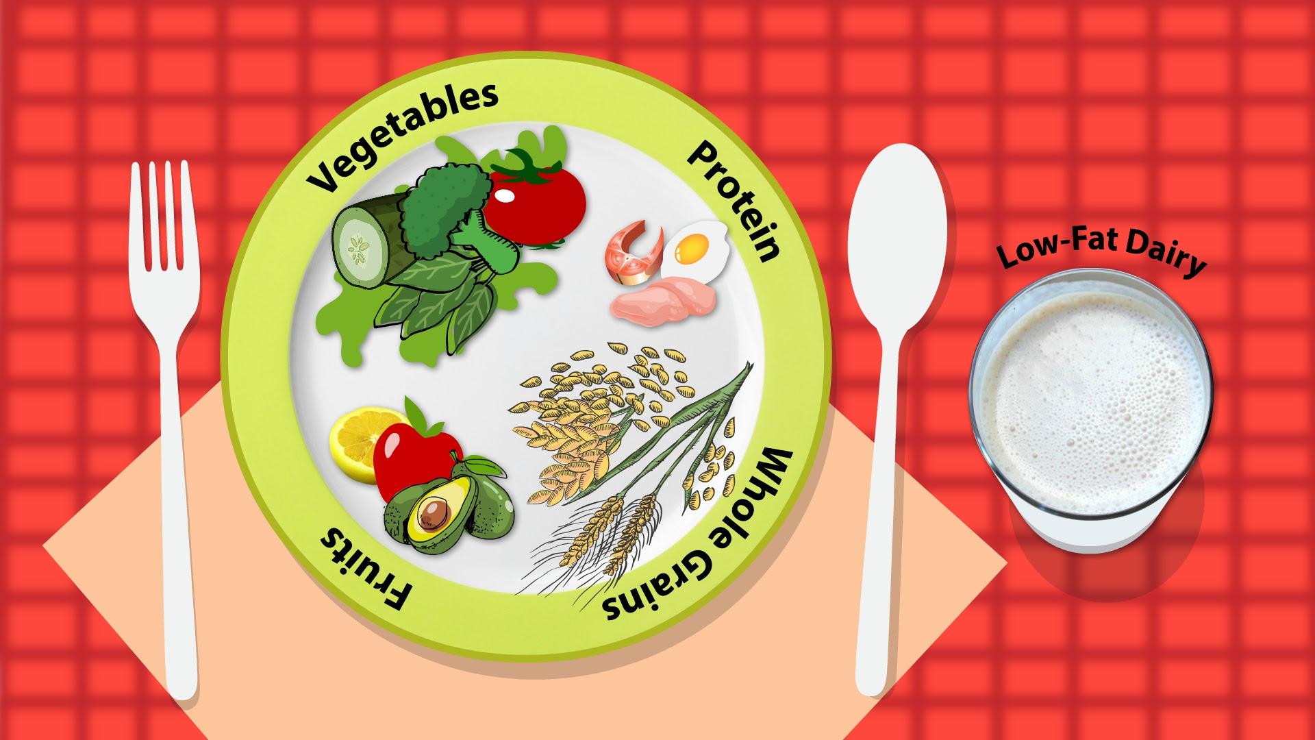 dash diet pyramid handout