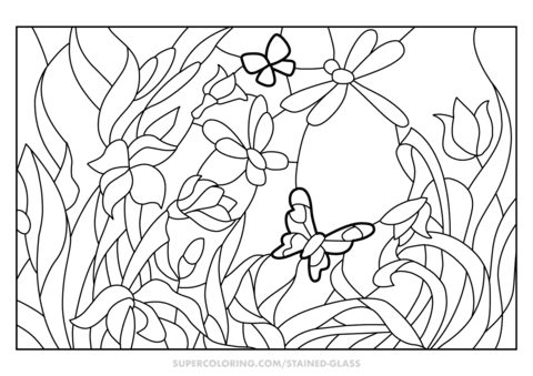 72 Coloring Pages Of Flower Gardens Pictures