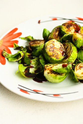 Cooking Books: Caramelized Brussels Sprouts with Balsamic Syrup